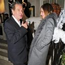 Charles Saatchi and Trinny Woodall were seen getting rather close outside 34 restaurant on Thursday evening - 454 x 731