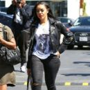 Angela Simmons has lunch at MauroÕs with a friend in West Hollywood, California on March 23, 2017 - 407 x 600