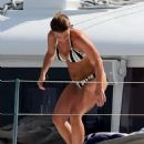 Coleen Rooney in Bikini on a yacht in Barbados - 454 x 568