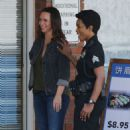 Jennifer Love Hewitt on the set of '9-1-1' in Los Angeles - 454 x 742