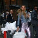 Romee Strijd – Seen Arriving at the Victoria's Secret fitting in New York - 454 x 642