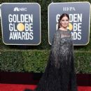 Debra Messing wears Pamella Roland Dress : 76th Annual Golden Globe Awards