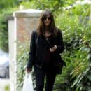 Jenna-Louise Coleman Takes a Morning Stroll