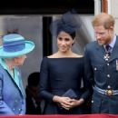 Prince Harry Windsor and Meghan Markle Attend Events To Mark The Centenary Of The RAF