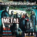 Corey Taylor, Paul Gray, Joey Jordison, Sid Wilson, James Root, Chris Fehn, Mick Thomson, Shawn Crahan - Vegas Rocks Magazine Cover [United States] (August 2015)