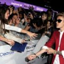 Justin Bieber arrives at the premiere of Open Road Films' 'Justin Bieber's Believe' at the Regal Cinemas L.A. Live on December 18, 2013 in Los Angeles, California