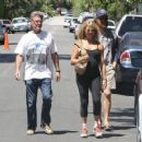 Kurt Russell and Goldie Hawn are spotted checking on the progress of construction on their house in Brentwood, California on August 14, 2015 - 454 x 359