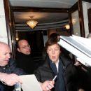 Paul McCartney living the Ambassadors Theatre, West End, London (03/27/2013)