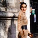 Camila Coelho – Balmain Fashion Show in Paris - 454 x 303
