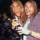 Axl Rose and Jennifer Driver