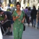 Rochelle Humes in Green Dress at Global Radio in London - 454 x 663