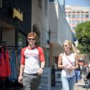 Evan Peters and Emma Roberts – Grab Lunch at Sam's Bagels on Larchmont in Los Angeles 8/29/2016 - 454 x 639