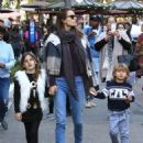 Alessandra Ambrosio Takes Her Kids to the Santa House at The Grove