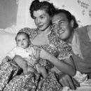 Esther Williams, Ben Gage and Baby Benjamin Stanton November 18, 1949