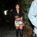 Chantel Jeffries in Short Shorts at Delilah club in West Hollywood