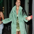 Maya Jama – Leaves S*** Fish restaurant in Mayfair - 454 x 767