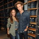 Vanessa Hudgens poses with her boyfriend Austin Butler as they kick off American Eagle`s Rock Your Walk Event on Tuesday (July 30) in New York City