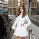 Kym Marsh – In a white dress attending the ITV Summer Party 2019 in London - 454 x 681