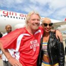 Amber Rose attends the Launch of Virgin America's First Flight from Los Angeles to Philadelphia at Los Angeles International Airport in Los Angeles, California - April 4, 2012 - 454 x 313