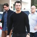 Joe & Kevin Jonas meet some friends for lunch in Los Angeles, California on January 9, 2015 - 446 x 594