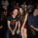 Lars Ulrich & Jessica Miller Alexander Wang Spring 2015 front row