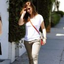 Minka Kelly: out and about with a gal pal in Beverly Hills