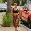 Draya Michele shows off her sporty curvy figure in Los Angeles