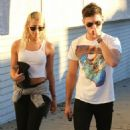 Zac Efron nd Sami Miro are seen leaving Sam's modeling agency, DT Model Management, in West Hollywood, California on November 5, 2014
