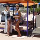 Lady Victoria Hervey in Blue Bikini at the pool in Palm Springs - 454 x 255
