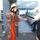 Nicole Scherzinger arrives back in Sydney