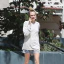 Cara Delevingne in Shorts – Out in Los Angeles - 454 x 681