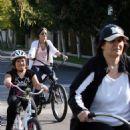 Demi Lovato Riding Her Bike In Toluca Lake, 2009-03-25
