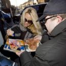 Pamela Anderson Arrives At Wimbledon Theatre In London, December 19 2009