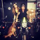 Nikki Sixx & Courtney with dog Leica