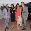 Off duty! Lewis and Jenson took their gorgeous girlfriends out to the Hugo Boss Pool Party in Monaco yesterday