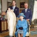 The Duchess of Cambridge, Prince George and the Duke of Cambridge taken after the young royal was christened on Wednesday October 23, 2013