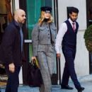 Rosie Huntington Whiteley – Leaves her hotel in NYC - 454 x 556