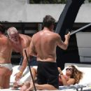 Brooke Burke in Pink Swimsuit – Celebrates her birthday on a yacht in Miami - 454 x 641