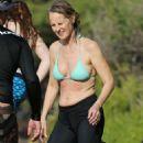 Helen Hunt in Bikini Top surfing in Hawaii - 454 x 681