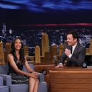 Zoe Saldana at 'The Tonight Show with Jimmy Fallon' (May 2014)