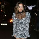 Georgia May Foote – In floral dress outside Isabel in London - 454 x 798