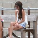 Selena Gomez & Francia Raisa enjoying a day on the beach in Malibu, California on June 23 - 454 x 566