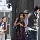 Brenda Song spent the afternoon with her boyfriend, Trace Cyrus, and his family yesterday, September 25, in Los Angeles