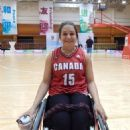 Women's wheelchair basketball players