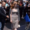 Jessica Chastain Leaves hotel Martinez in Cannes - 454 x 636