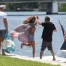 Brooke Burke in Pink Swimsuit – Celebrates her birthday on a yacht in Miami - 454 x 305