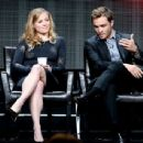 Actor Ed Westwick speaks onstage during the 'Wicked City' panel discussion at the ABC Entertainment portion of the 2015 Summer TCA Tour at The Beverly Hilton Hotel on August 4, 2015 in Beverly Hills, California