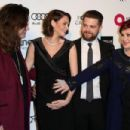 Lisa & Jack Osbourne with Ozzy & Sharon Osbourne attend the 23rd Annual Elton John AIDS Foundation's Oscar Viewing Party on February 22, 2015 in West Hollywood, California