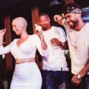 Amber Rose attends Attend Sam Nazarian Birthday Party with Ketel One at Hyde Sunset Kitchen in Los Angeles, California - July 22, 2014 - 454 x 332