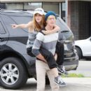 Bella Thorne hits the dance studio with boyband iam5 to practice their moves - 396 x 594